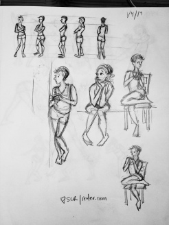 figures seated/standing