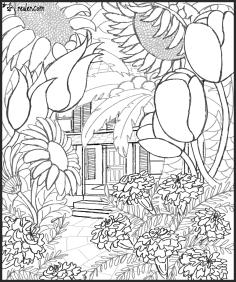 Giant flower garden