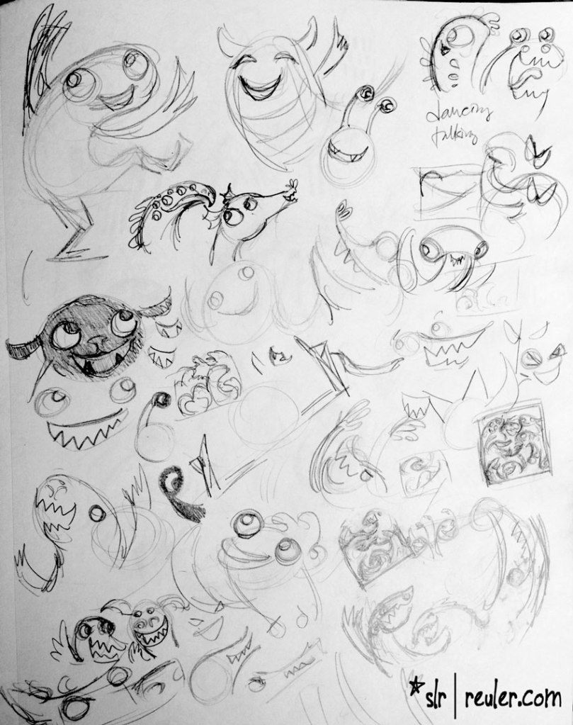 monsterparty_sketches1