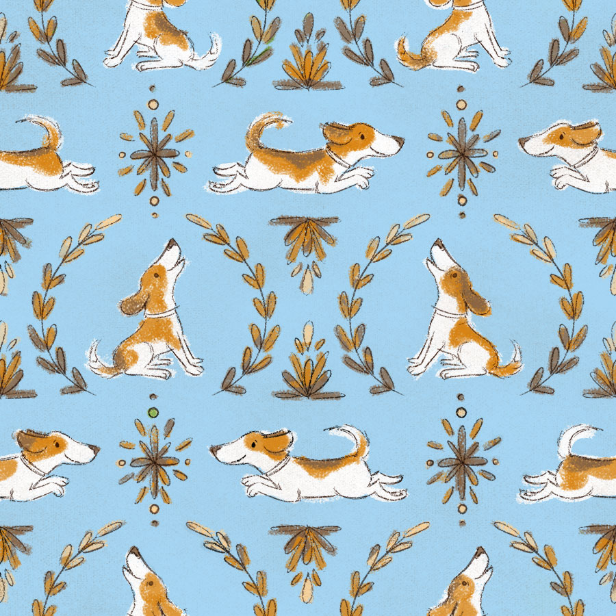 beagle_pattern_blue_and_brown