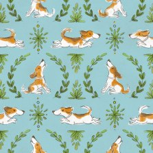 beagle_pattern_blue_and_green